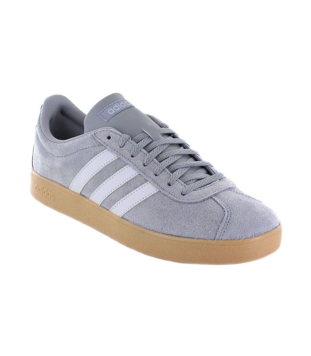 Adidas VL Court 2.0 Gris Adidas Calzado Casual Hombre Lifestyle Tallas: 40, 44, 44 2/3, 47 1/3, 48; Color: gris