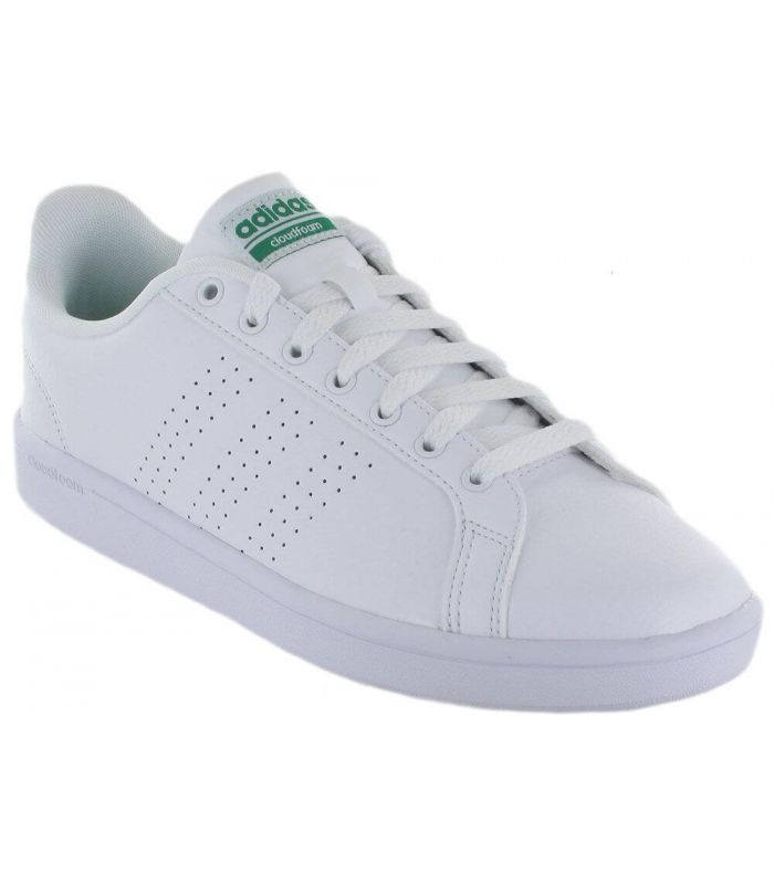 Adidas VS Advantage CL Adidas Calzado Casual Hombre Lifestyle Tallas: 44 2/3, 46, 47 1/3; Color: blanco