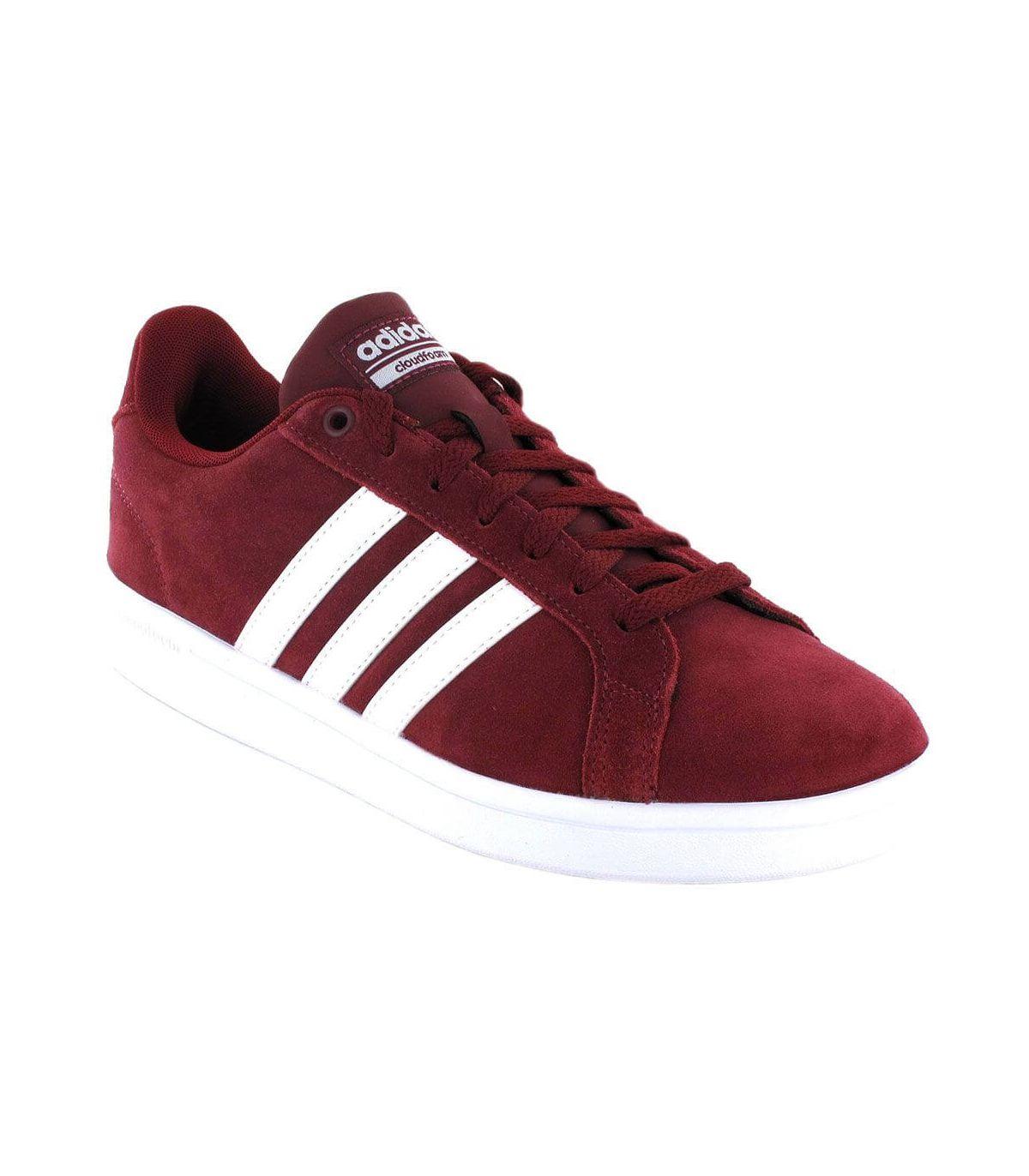Adidas VS Advantage Granate Adidas Calzado Casual Hombre Lifestyle Tallas: 40, 42, 44; Color: granate