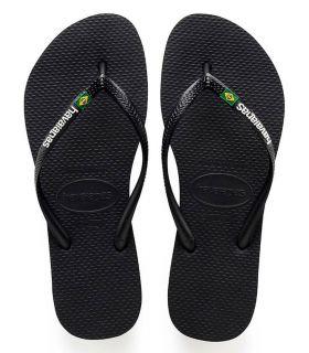 Havaianas Slim Brazil Logo Negro - Tienda Sandalias / Chancletas Mujer - Havaianas negro