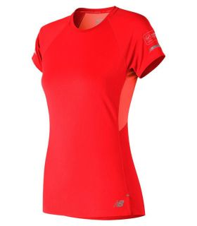 New Balance Ice 2.0 Short Sleeve Naranja New Balance Camisetas técnicas running Textil Running Tallas: xs, s, m; Color: