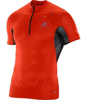 Salomon S-Lab Exo Zip Tee Rojo