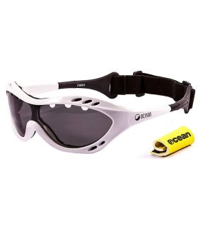 Ocean Costa Rica Shiny White / Smoke Ocean Sunglasses Gafas de sol Running Running Color: blanco