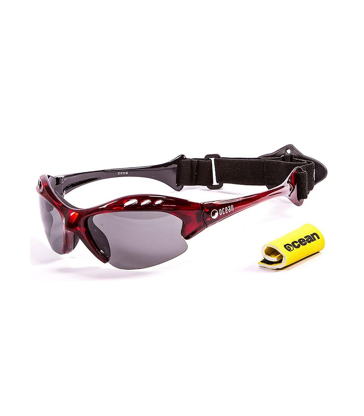 Ocean Mauricio Shiny Red / Smoke Ocean Sunglasses Gafas de sol Running Running Color: rojo