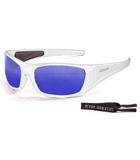 Ocean Bermuda Shiny White / Revo Blue Gafas de sol Running