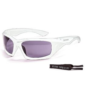 Ocean Antigua Shinny White / Smoke - Gafas de sol Running - Ocean Sunglasses blanco