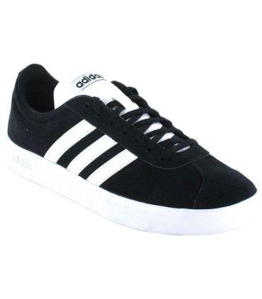 Adidas VL Court 2.0 Negro Adidas Calzado Casual Hombre Lifestyle Tallas: 40 2/3, 42 2/3, 44, 44 2/3, 45 1/3, 46, 49