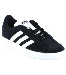 Adidas VL Court 2.0 K Negro Adidas Calzado Casual Junior Lifestyle Tallas: 31, 37 1/3, 38, 31,5, 33, 33,5, 34, 35