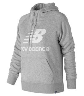 New Balance Pullover Hoodie W Gris New Balance Sudaderas Lifestyle Lifestyle Tallas: s, m; Color: gris