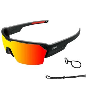 Ocean Race Shinny Black / Red Revo Ocean Sunglasses Gafas de Sol Sport Gafas Sol Color: negro
