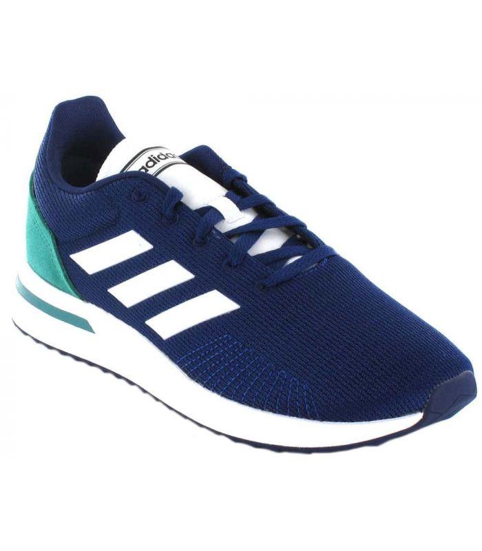 Adidas Run 70S Adidas Calzado Casual Hombre Lifestyle Tallas: 42, 42 2/3, 43 1/3, 44 2/3, 45 1/3, 46; Color: azul marino