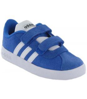 Adidas VL Court 2.0 CMF Azul Adidas Calzado Casual Baby Lifestyle Tallas: 23 1/2, 24, 25,5, 26,5; Color: azul