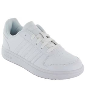 Adidas Hoops 2.0 K - Calzado Casual Junior - Adidas blanco 33, 33,5, 34, 35, 35,5, 36, 36