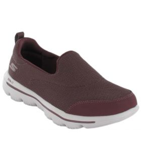 Skechers GO walk Evolution Ultra Granate Skechers Calzado Casual Mujer Lifestyle Tallas: 36, 38, 39; Color: granate