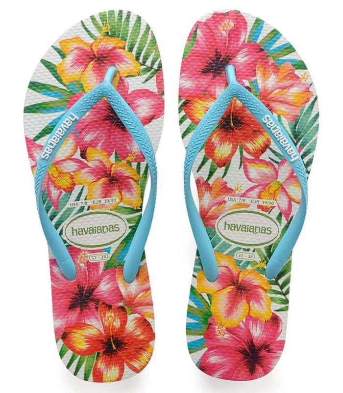 Havaianas Slim Hibisco Tienda Sandalias / Chancletas Mujer