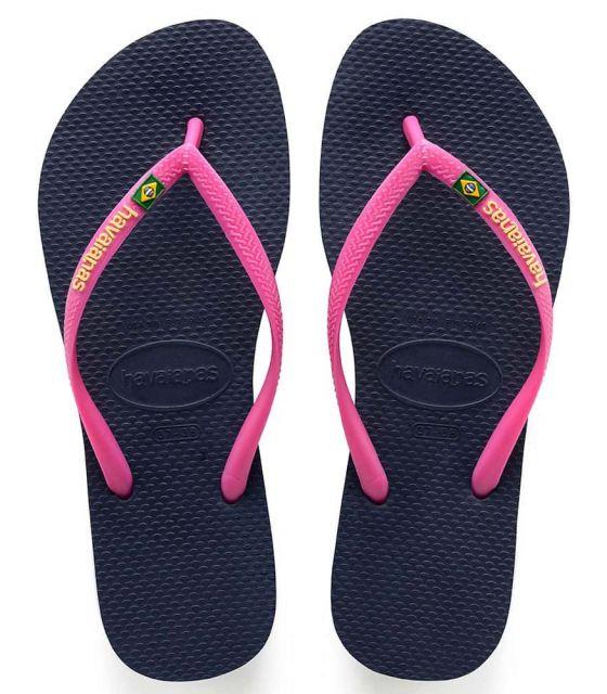 Havaianas Slim Brasil Logo Azul Havaianas Nº1 en Zapatillas Chanclas - Sandalias Nº1 en mas Zapatillas Tallas: 35 / 36