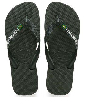 Havaianas Brasil Logo Verde - Tienda Sandalias / Chancletas Hombre - Havaianas verde 39 /
