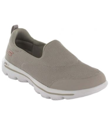 Skechers GO walk Evolution Ultra Beige Skechers Calzado Casual Mujer Lifestyle Tallas: 36, 38, 39, 41; Color: beige