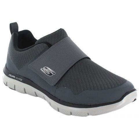 Skechers Gurn Grey Skechers Casual Footwear Man Lifestyle Sizes: 40, 41, 42, 43; Color: gray