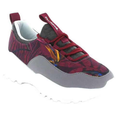 Uneven Chunky Garnet Desigual Shoes Women's Casual Lifestyle Sizes: 37, 38, 39, 40, 41; Color: garnet
