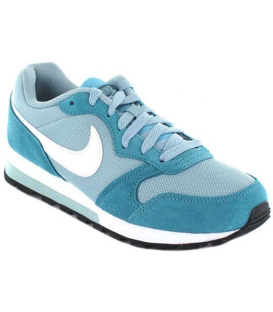 Nike MD Runner 2 W 303 Nike Calzado Casual Mujer Lifestyle Tallas: 37,5, 38, 39, 40, 41; Color: azul claro