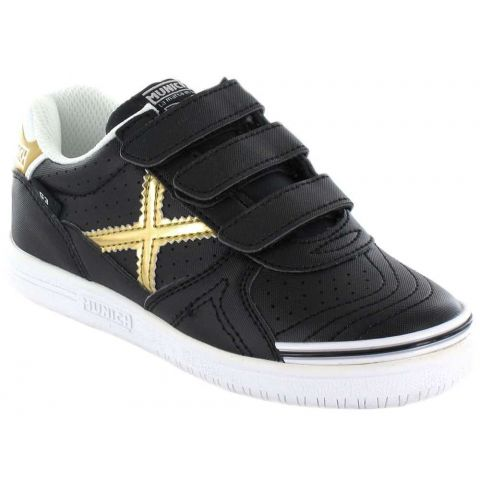 Munich G3 Black Velcro Munich Casual Footwear Lifestyle Junior Sizes: 26, 27, 28, 29, 30, 31, 32; Color: black