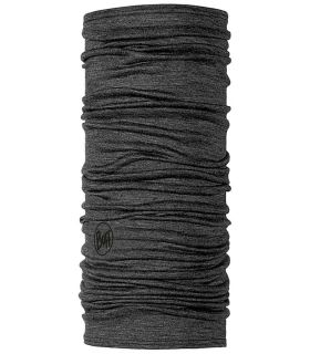 Buff Lightweight Merino Buff Solid Wool Grey