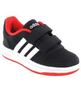 Adidas Hoops 2.0 CMF l Adidas Calzado Casual Baby Lifestyle Tallas: 20, 21, 22, 23, 24, 25, 26, 27; Color: negro