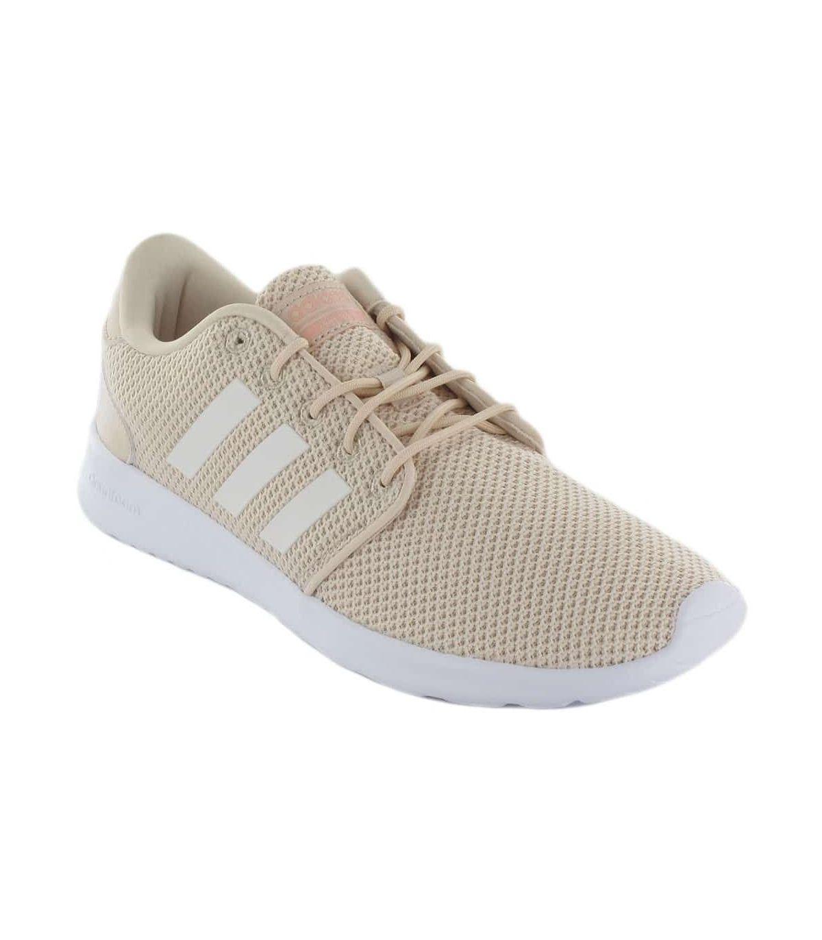 Adidas QT Racer Adidas Calzado Casual Mujer Lifestyle Tallas: 39 1/3, 40, 40 2/3, 41 1/3, 42, 42 2/3, 44; Color: beige