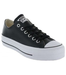 Converse Chuck Taylor All Star Lift Clean Leather Low-Black Converse Shoes Women's Casual Lifestyle Sizes: 36, 37, 38