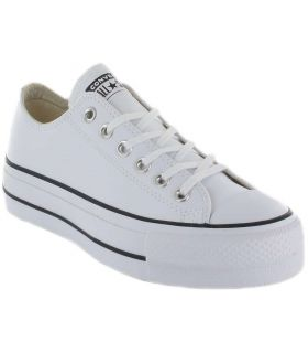 Converse Chuck Taylor All Star Lift Clean Leather Low Blanco Converse Calzado Casual Mujer Lifestyle Tallas: 37, 38