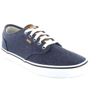 Vans Atwood Bleu Vans Chaussures Casual Homme Lifestyle Tailles: 41, 42, 43, 44, 45; Couleur: bleu