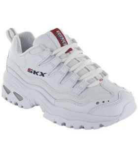 Skechers Energy Retro Vision Blanco Skechers Calzado Casual Mujer Lifestyle Tallas: 37, 38, 39, 40, 41; Color: blanco