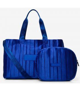 Desigual Bolsa de gimnasio 2 en 1 Azul Desigual Mochilas - Bolsas Running Color: azul