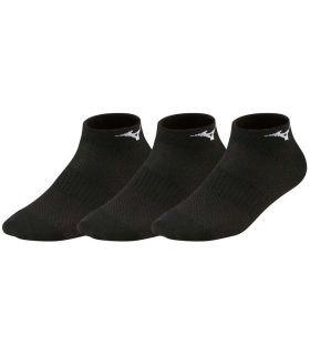 Mizuno Socks Training Mid 3P Black Mizuno Socks Running Shoes Running Sizes: 38 / 40, 41 / 43, 44 / 46;