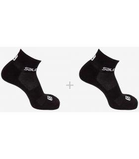 Salomon Socks Evasion 2 Pack Black Salomon Socks Running Shoes Running Sizes: 36 / 38, 39 / 41, 42 /
