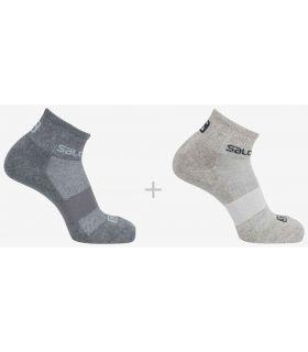 Salomon Socks Evasion 2 Pack Grey Salomon Socks Running Shoes Running Sizes: 36 / 38, 39 / 41, 42 / 44;