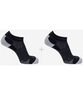 Salomon Socks Running Cros 2 Pack Black Salomon Socks Running Shoes Running Sizes: 36 / 38, 39 / 41, 42