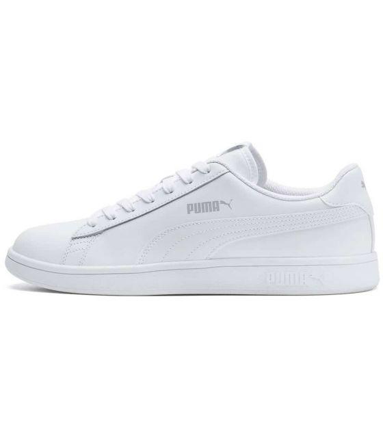 Puma Smash v2 Leather White Puma Shoes Casual Man Lifestyle Sizes: 41, 42, 43, 44; Color: white