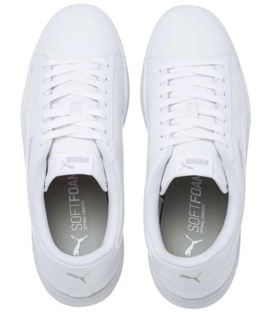 Puma Smash v2 Leather Blanco Puma Calzado Casual Hombre Lifestyle Tallas: 41, 42, 43, 44; Color: blanco