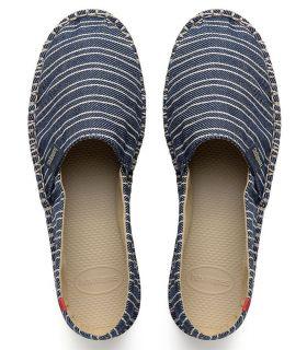 Havaianas Origine Print Classic Havaianas Casual Footwear Mens Lifestyle Size: 40; Color: navy blue