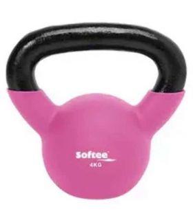 Kettlebell Neopreno 4 Kg Softee Pesas - Tobilleras Lastradas Fitness Color: fucsia